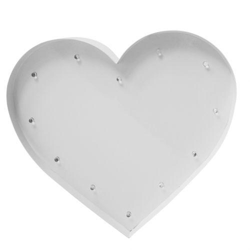 SWEETLIGHTS / Detská lampička Heart White Small bulbs - menšia