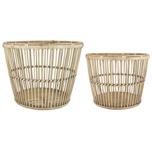 IB LAURSEN / Úložný bambusový kôš Natural