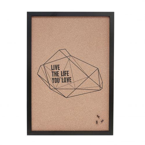 Hübsch / Korková nástenka Live the Life You Love
