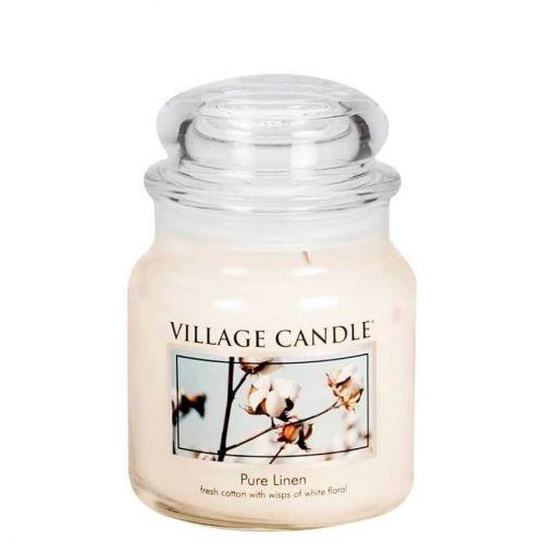 VILLAGE CANDLE / Svíčka ve skle Pure linen - střední