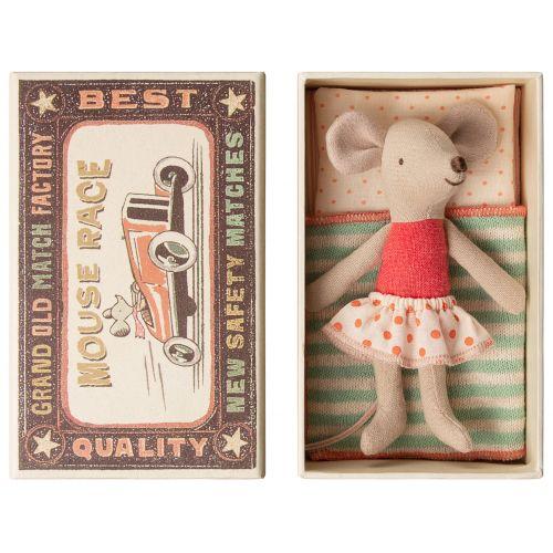 Maileg / Myška v krabičke od zápaliek Little sister