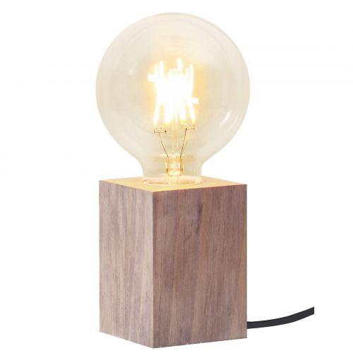 STAR TRADING / Drevená lampa Lys Brown