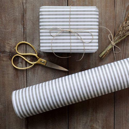 Chic Antique / Darčekový baliaci papier Stripes Olive - 10 m