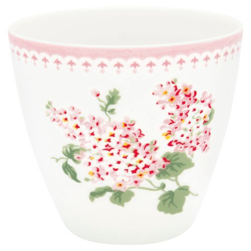 GREEN GATE / Porcelánový Latte cup Luna White 350 ml