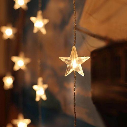 STAR TRADING / Svetelná reťaz-záves s hviezdičkami