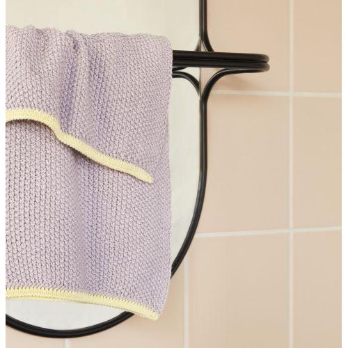 Hübsch / Pletený uterák Purple Yellow 40x60cm