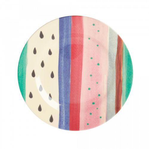 rice / Melamínový tanier Louise's Stripe 20 cm