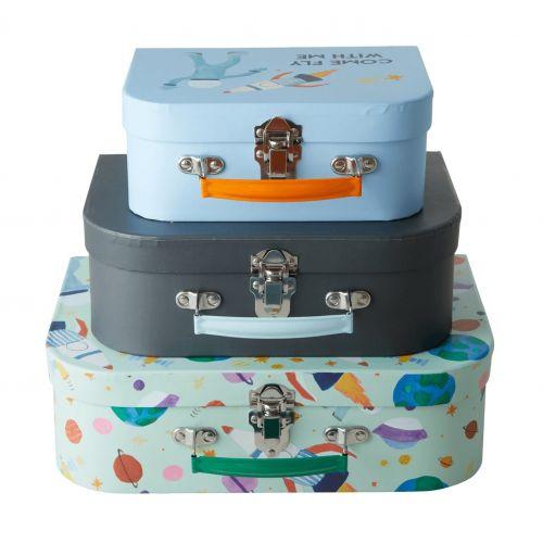 rice / Detský kufrík Space Print