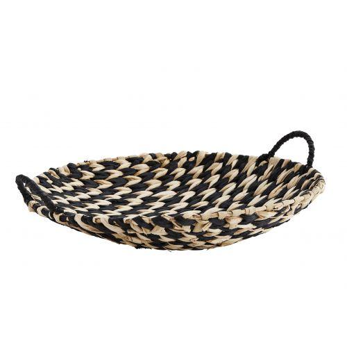 MADAM STOLTZ / Ručne pletená ošatka Paper Rope Tray Black