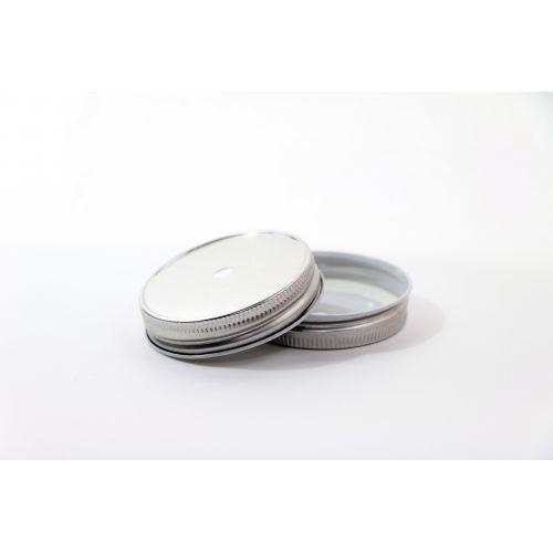 Ball / Kovové víčko s otvorem na brčko Ball stříbrné