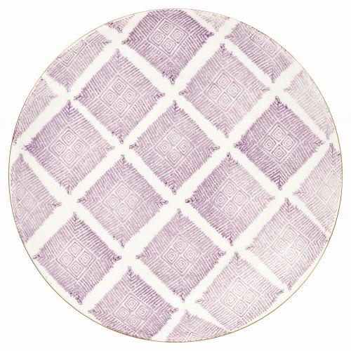 GREEN GATE / Porcelánový tanier Kassandra lavendar