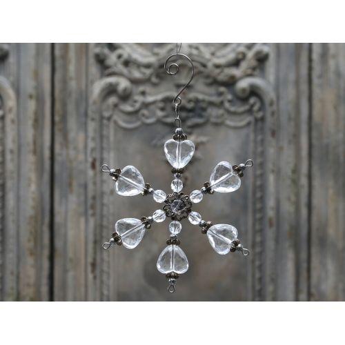 Chic Antique / Dekorativní hvězda Crystal 13cm