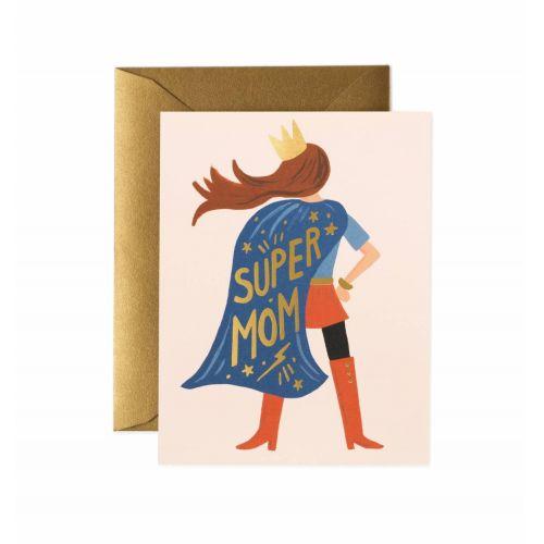 Rifle Paper Co. / Pohľadnica s obálkou Super Mom