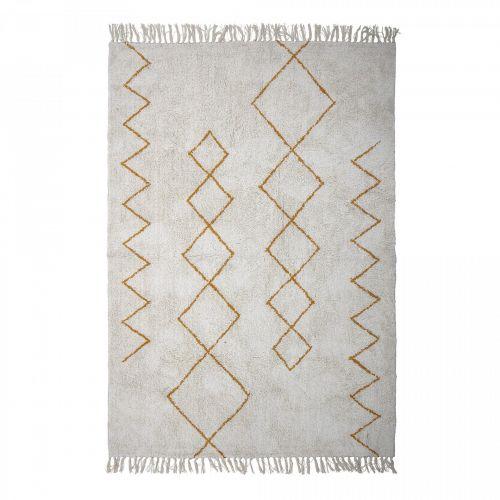 Bloomingville / Bavlnený koberec Yellow Ornament 200×140 cm