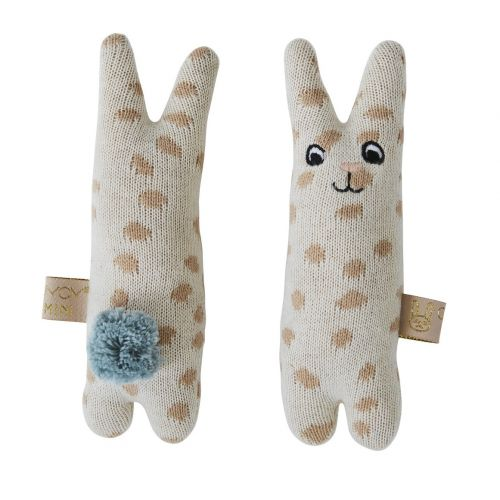 OYOY / Detská pletená hrkálka Baby Rabbit