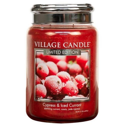 VILLAGE CANDLE / Svíčka Village Candle - Cypress & Iced Currant 602g