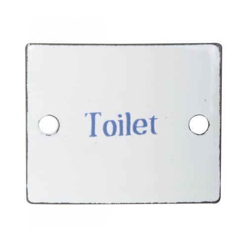 IB LAURSEN / Plechová ceduľa Toilet