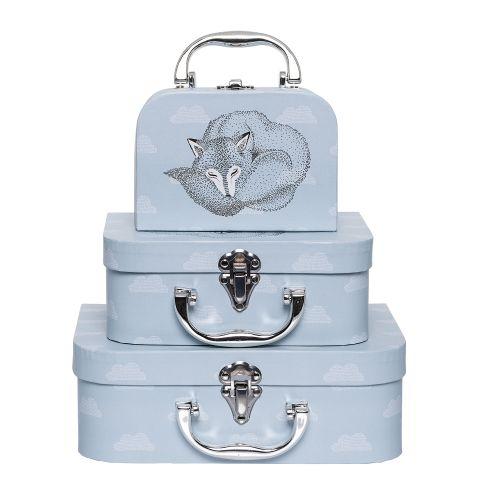 Bloomingville / Dětský kufřík Sky Blue - 3 velikosti