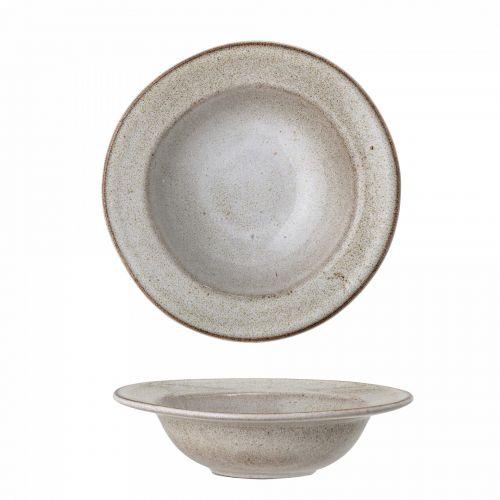Bloomingville / Cestovinový keramický tanier Sandrine Grey