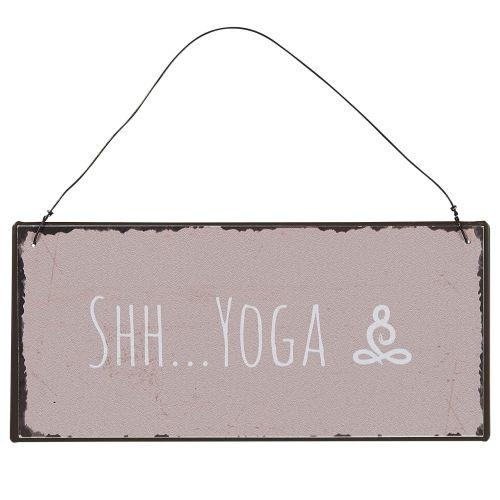 IB LAURSEN / Plechová ceduľa Shh Yoga