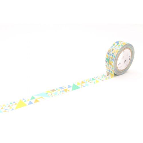 mt / Designová samolepicí páska Sankaku blue