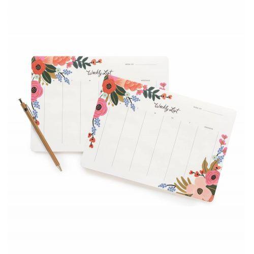Rifle Paper Co. / Stolný týždenný plánovač Lively Floral