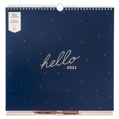 Busy B / Rodinný týždenný kalendár Navy 2021