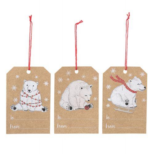 Bloomingville / Vianočné darčekové štítky Bear - 6ks