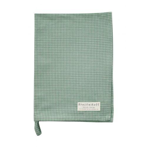 Krasilnikoff / Utierka Checkered Dusty Green 50 x 70 cm