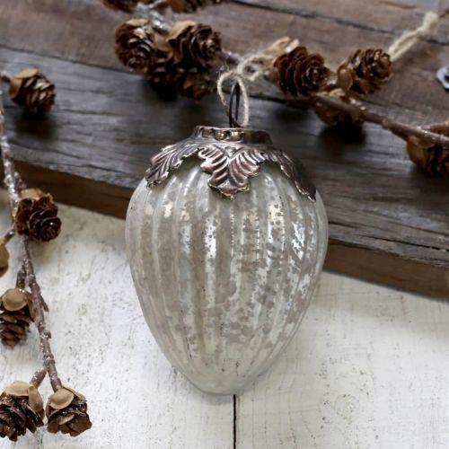 Chic Antique / Vianočná ozdoba Antique Stripe Decor White 11 cm