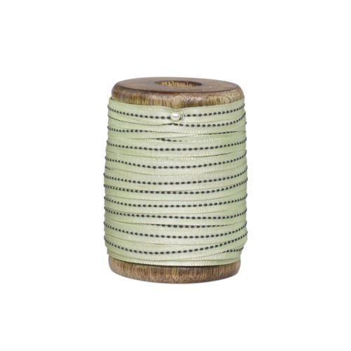 Chic Antique / Bavlnená stuha s cievkou Green - 5m