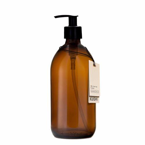 KUISHI / Sklenený zásobník na mydlo s pumpičkou Amber 250 ml