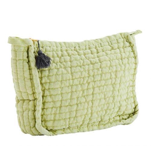 MADAM STOLTZ / Kozmetická taštička Linen Apple Green