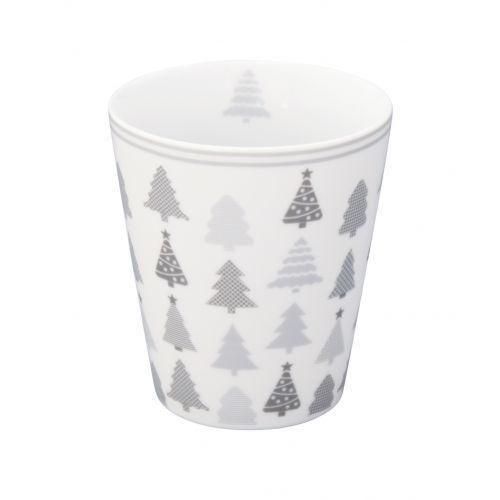 Krasilnikoff / Latte hrnček Christmas Trees
