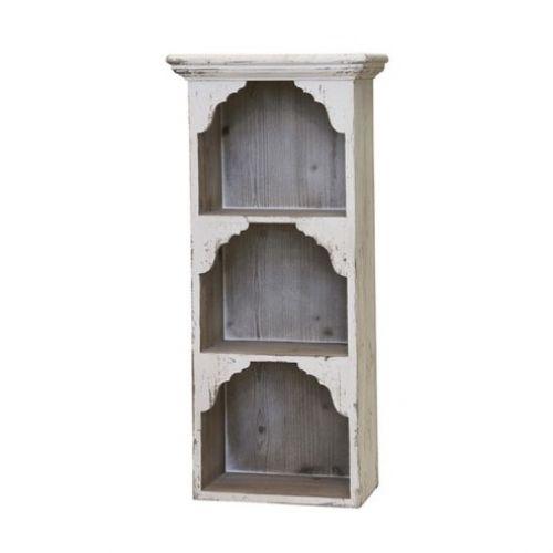 Chic Antique / Nástenná knižnica z cyprusového dreva Cream Wood