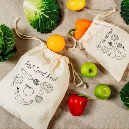 sass & belle / Bavlnená taška Fruit Veg - set 2 ks