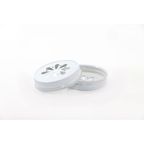 Ball / Dekorativní kovové víčko Ball bílé