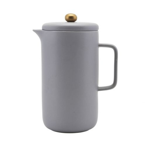 House Doctor / Porcelánová kávová konvice French press Grey