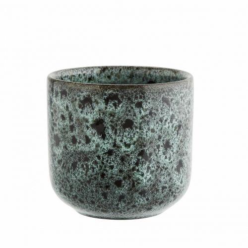 MADAM STOLTZ / Keramický hrnček Turquoise Spots