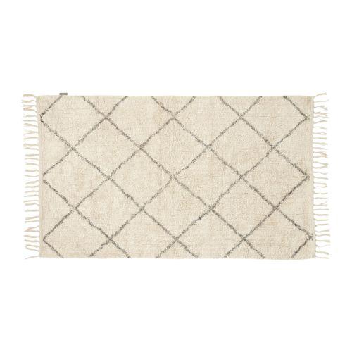 Hübsch / Bavlnený koberček White/grey 90x150 cm