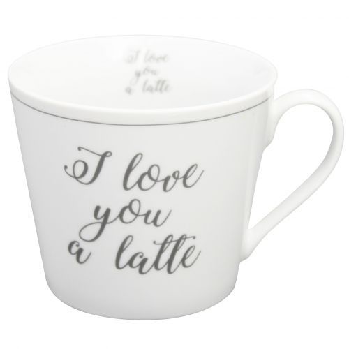 Krasilnikoff / Porcelánový hrnček I Love You A Latte