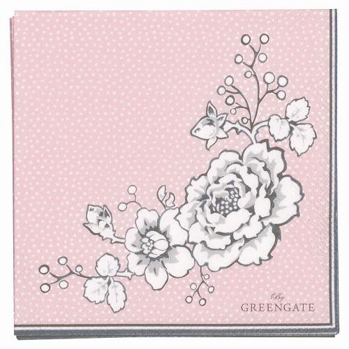 GREEN GATE / Papírové ubrousky Ella pale pink