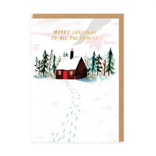 Ohh Deer / Vianočné prianie Christmas Cabin