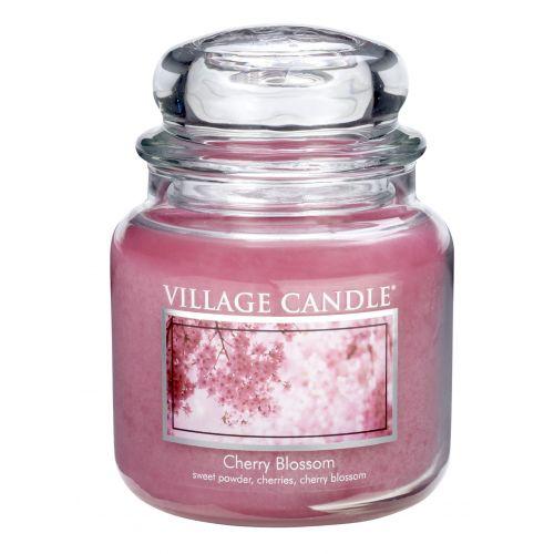 VILLAGE CANDLE / Sviečka v skle Cherry blossom - stredná
