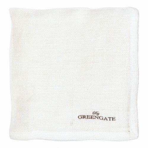 GREEN GATE / Látkový obrúsok Heavy linen white
