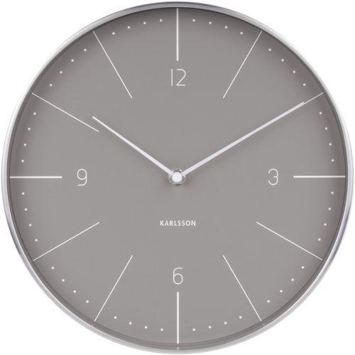 Karlsson / Nástenné hodiny Normann Warm Grey