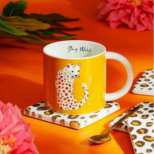 sass & belle / Kameninový hrnček Leopard Love