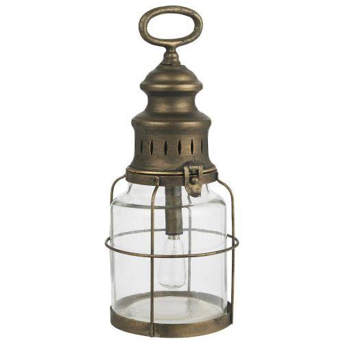 IB LAURSEN / Kovový LED lampáš Grid Antique Brass 31 cm