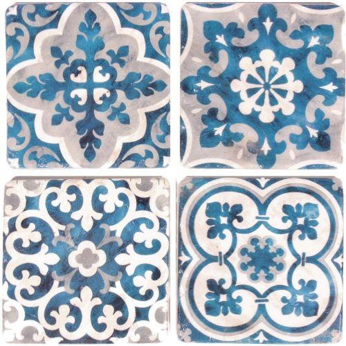 La finesse / Kamenné podtácky pod hrnčeky Blue/White