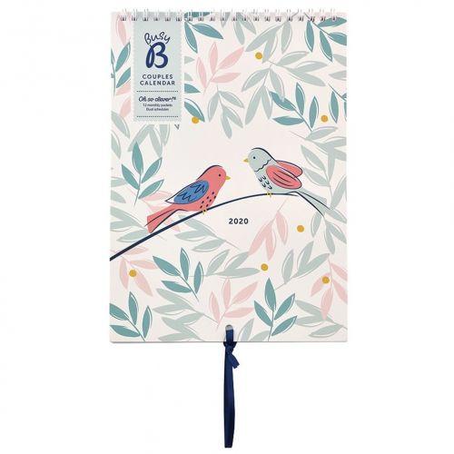Busy B / Nástenný kalendár pre páry Breezy Blossoms 2020